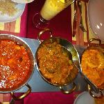 Prawn Kadhai + Lamb Jalfrezi + Chicken Tikka Masala