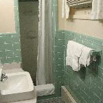 Shower stall only, but a large one.