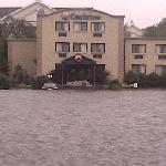 Guest cars under water after major storm