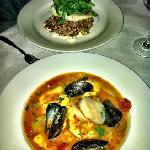 The halibut and cioppino entrees