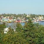 Lunenburg waterfront view from golf course