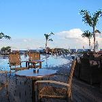 Kos ved nedertste basseng nermest stranda