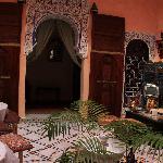The courtyard Riad Idrissi