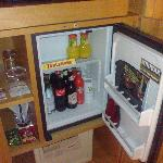 free minibar, but a bottle of wine would have been nice