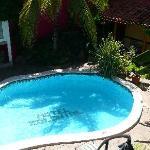 Sunny courtyard pool