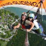 My tanderm hang gliding with Bernie