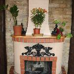 Wood burning stove in another room