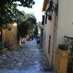 Street for the taverna