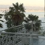 Terrasse mit Rijeka im Hintergrund