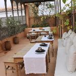 The beautiful terrace for breakfast