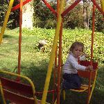 Jugando en el jardín!