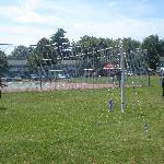 Playing some badminton