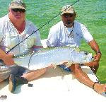 Carlos and Guest with nice Tarpon