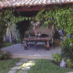 One of the outdoor seating areas in our hacienda