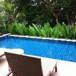 Our private pool @ our Villa