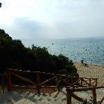 La spiaggia di Trikorfo