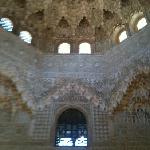 azuléjos bleutés. Alhambra de Grenade.