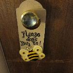 cute do not disturb tag by the door