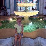 Kass at the lobby fountain.