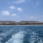 Vista del hotel desde el mar (paseo en bote)