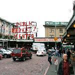Main entrance of market.