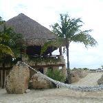 XCARET-Zona de restaurantes frente al mar Caribe