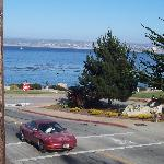 The view of the bay from the corner of the hotel