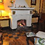 stanza con camino nella residenza principale