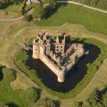 Caerlaverock Castle - aerial view