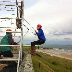Abseiling off Bamburgh Castle with Adventure Northumberland