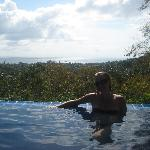 Infinity pool, with the best view on the island