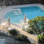 Hotel pool with and Jacuzzi
