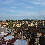 la terrasse de l'hôtel : une merveille!