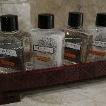 Designer bath amenities..