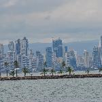 View of downtown Panama City from the boat