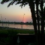 Sonnenuntergang von der Terasse gesehen