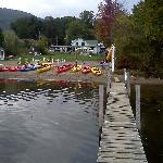 Taken from the end of the dock, looking toward motel