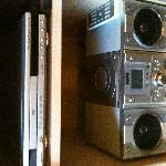 In-room DVD player and mini hi-fi