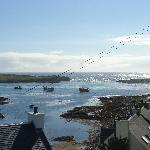 Lo splendido panorama di Portnahaven durante una giornata di sole...