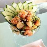 Complimentary sashimi salad