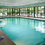 A large heated indoor pool for exercise or play