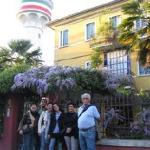 In front of Antica Villa Graziella