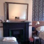 Room 2 fireplace.