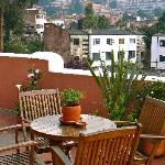 Rooftop deck for guests, with slopeside views of La Candelaria