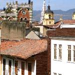 View of La Candelaria from Casa Deco's rooftop deck.