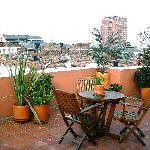 Another view of the rooftop deck for Casa Deco guests.