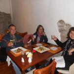 cena en el restaurant