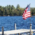 Old glory down at the dock
