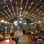 the red ochre grill resturant outside dinning at night
