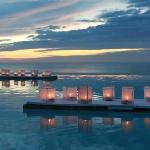 Floating Candles on Infinity Pool